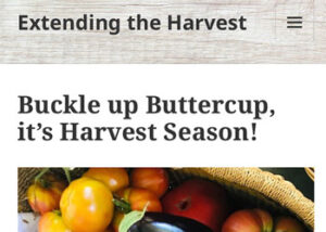 New 'Extending the Harvest' Blog